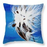 Milkweed Pod Throw Pillow