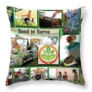 Seed To Serve Rw2k14 Throw Pillow
