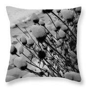 Seedheads Throw Pillow