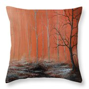 Seeing Shades Of Red Throw Pillow