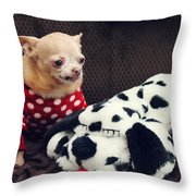 Seeing Spots Throw Pillow by Laurie Search