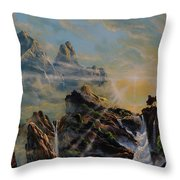 Seeing The Face Of God Throw Pillow