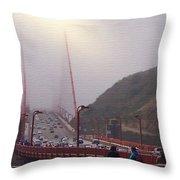 Seeing The Golden Gate Throw Pillow