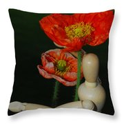 Seeking A Yellow Brick Road Poppy Number Two Throw Pillow