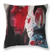 Seem To Happen Suddenly  Original Abstract Colorful Landscape Painting For Sale Red Blue Green Throw Pillow