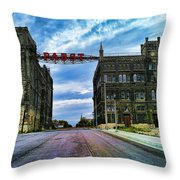 Seen Better Days Old Pabst Brewery Home Of Blue Ribbon Beer Since 1860 Now Derelict Throw Pillow
