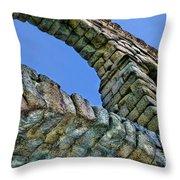 Segovia Aqueduct Arch By Diana Sainz Throw Pillow