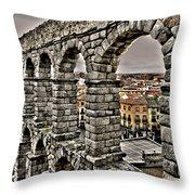 Segovia Aqueduct - Spain Throw Pillow