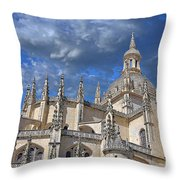 Segovia Gothic Cathedral Throw Pillow by Ivy Ho