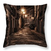 Segovia Predawn Throw Pillow by Joan Carroll