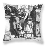Segregated Saloon, 1875 Throw Pillow