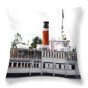 Segwun Steamboat - Painterly Throw Pillow