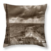Seine From Notre Dame Throw Pillow