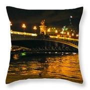 Seine's Current Throw Pillow