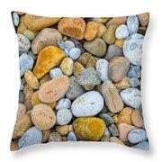 Seixos De Adraga Throw Pillow