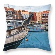Sekalla Marina Egypt Throw Pillow