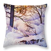 Seldovia Ravine Throw Pillow