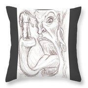 Self-consuming Throw Pillow