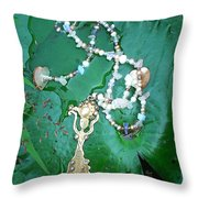 Self-esteem Necklace With Offerings Goddess Pendant Throw Pillow