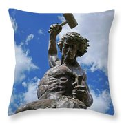 Self Made Man Throw Pillow by Sheila Kay McIntyre