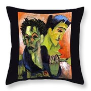 Self-portrait - Double Portrait Throw Pillow