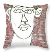 Self-portrait As A Young Man Throw Pillow