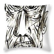 Self-portrait As An Old Man Throw Pillow