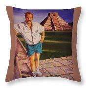 Self Portrait At Chichen Itza Throw Pillow
