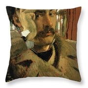 Self Portrait, C.1865 Panel Throw Pillow