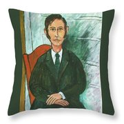 1st Self Portrait Age 33 Throw Pillow