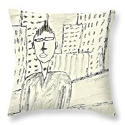 Self-portrait In Ny Throw Pillow