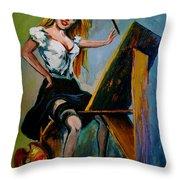 self portrait - Karon Throw Pillow
