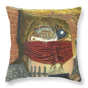 Subconcious Self Portrait Throw Pillow