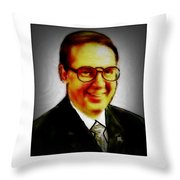 Self Portrait Of Bruce Nutting Throw Pillow