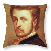 Self Portrait Oil On Canvas Throw Pillow