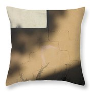 Self Portrait Shadow Wall Casa Grande Arizona 2004 Throw Pillow