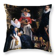 Self-portrait With Family Throw Pillow