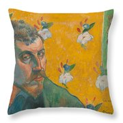 Self-portrait With Portrait Of Bernard. Les Miserables. Throw Pillow