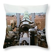 Self-propelled 8 Inch Howitzer M110 Lz Oasis R V N 1968 Throw Pillow