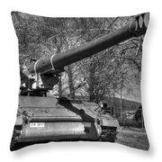 Self Propelled Gun Throw Pillow