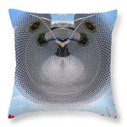 Selfridges Birmingham Bull Ring Throw Pillow