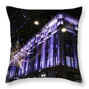 Selfridges London At Christmas Time Throw Pillow