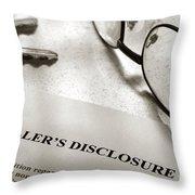 Seller Property Disclosure Throw Pillow