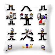Semaphore Throw Pillow