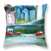 Semi Abstract Landscape Throw Pillow