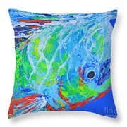 semi abstract Mahi mahi Throw Pillow