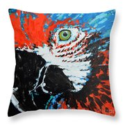 Semiabstract Parrot Throw Pillow