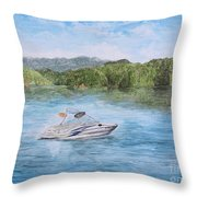Semper Fidelis On Jocassee Throw Pillow