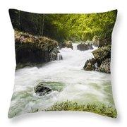 Semuch Champey Waterfalls Throw Pillow