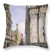 Senate House Passage, Cambridge, 1843 Throw Pillow